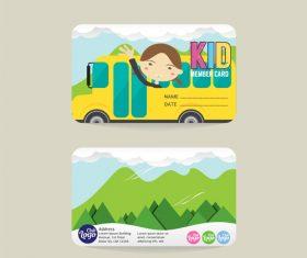 Kid club member card template vector 03