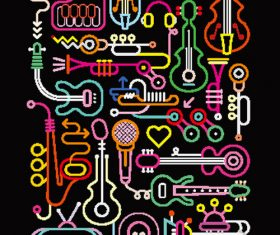 Linear painting vector 12