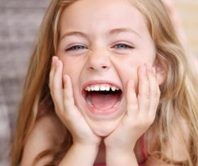 Little girl is laughing Stock Photo