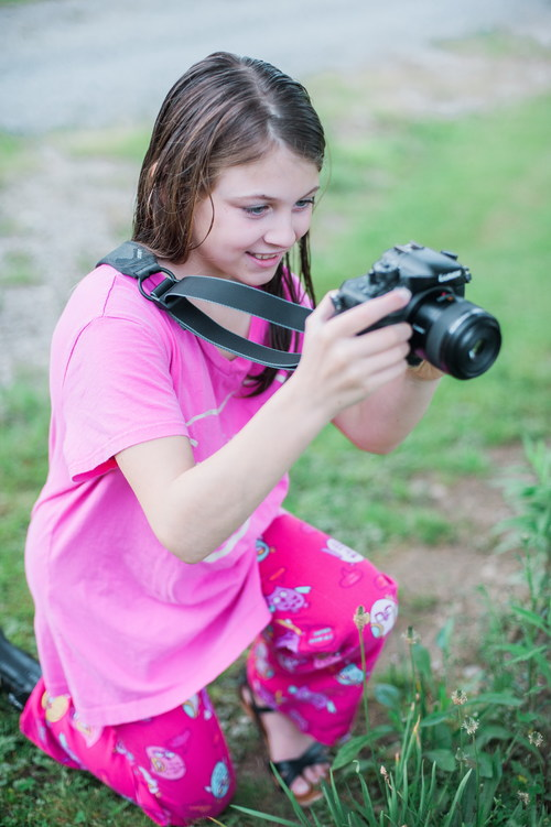 Little Girl Taking A Photo With Camera Stock Photo Free -8107