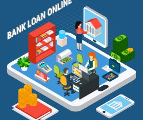 Loans isometric vector