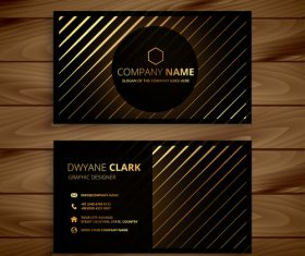 Luxury golden business card template creative vector