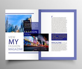 Magazine with book creative cover template vector 02