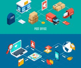 Mail isometric vector