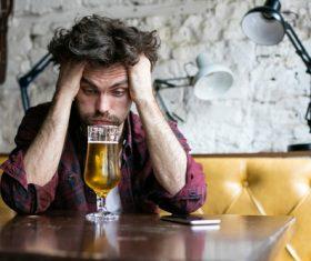 Men having beer in a pub Stock Photo 01