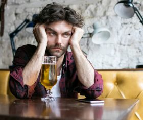 Men having beer in a pub Stock Photo 02