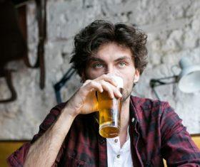 Men having beer in a pub Stock Photo 06