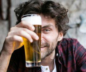 Men having beer in a pub Stock Photo 07