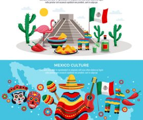 Mexico banners vector