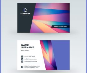 Modern abstract business card template vector 01