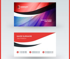 Modern abstract business card template vector 02
