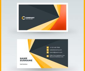 Modern abstract business card template vector 03