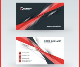 Modern abstract business card template vector 04