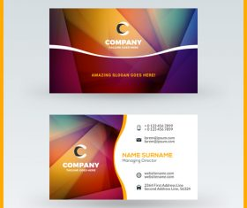 Modern abstract business card template vector 05