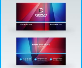 Modern abstract business card template vector 06