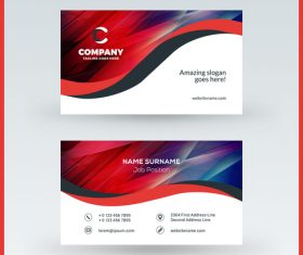 Modern abstract business card template vector 07