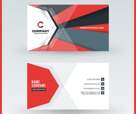 Modern abstract business card template vector 08