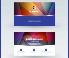 Modern abstract business card template vector 09