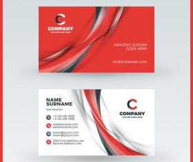 Modern abstract business card template vector 10