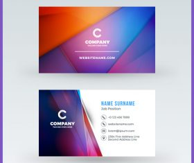 Modern abstract business card template vector 11
