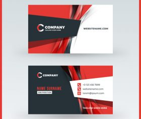 Modern abstract business card template vector 12
