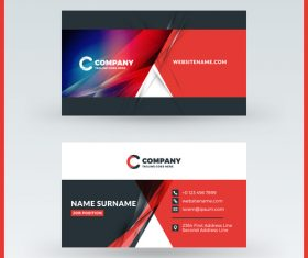 Modern abstract business card template vector 13