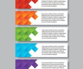 Modern banners template set vector 01