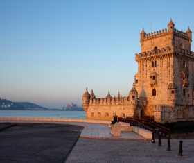 Morning at Belem Tower in Lisbon Stock Photo 01