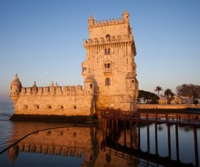 Morning at Belem Tower in Lisbon Stock Photo 02