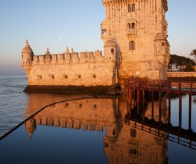 Morning at Belem Tower in Lisbon Stock Photo 03