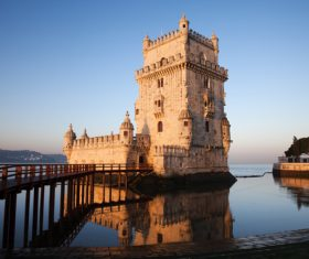 Morning at Belem Tower in Lisbon Stock Photo 05