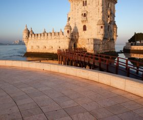 Morning at Belem Tower in Lisbon Stock Photo 06