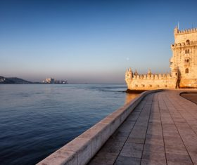 Morning at Belem Tower in Lisbon Stock Photo 07