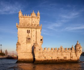Morning at Belem Tower in Lisbon Stock Photo 09