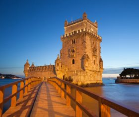 Morning at Belem Tower in Lisbon Stock Photo 11