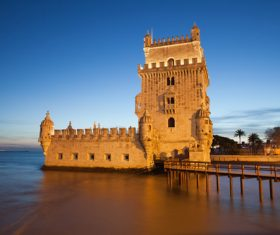 Morning at Belem Tower in Lisbon Stock Photo 12