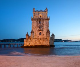 Morning at Belem Tower in Lisbon Stock Photo 14
