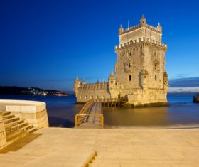 Morning at Belem Tower in Lisbon Stock Photo 15