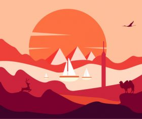Mountain vector material