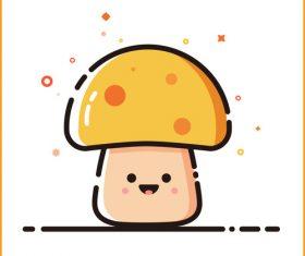 Mushroom cartoon vector material