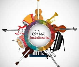 Music Instruments frame vector material