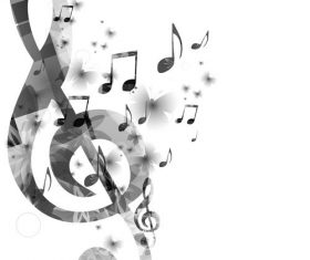 Music black white background vector
