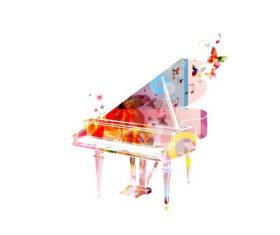 Music pianoforte abstract vector