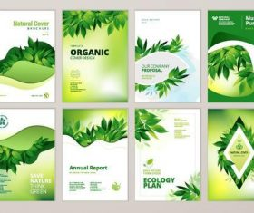 Natural brochure cover vector template