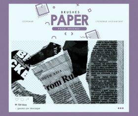 New Paper Photoshop Brushes