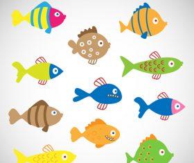 Ocean cartoon fish vector