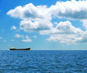 Ocean freighter Stock Photo