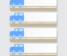 Option banners with car vector 02