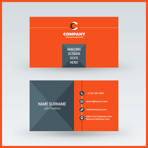Orange red business card template vector 01 free download orange red business card template vector 01 flashek Gallery