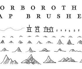 Orboroth Map Photoshop Brushes